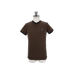 ARMANI JEANS アルマーニジーンズ メンズ半袖Tシャツ C6H08 QK 57 ブラウン ...