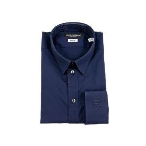 ドルチェ&ガッバーナ カッターシャツ QG5371 25456 80658 ネイビー ドレスシャツ...