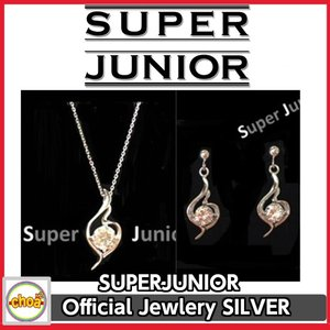 SUPER JUNIOR Official Jewlery / ネックレス、ピアス 選択 SILVER925 .CUBIC ZIRCONIA ジュエリー 公式  SJ music with Silver Collection|shopchoax2