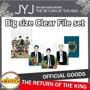 JYJ BIGサイズクリアファイルセット 2014 Concert In Seoul 'THE RETURN OF THE KING' ソウルコンサートグッズ 公式ファイルセット|shopchoax2
