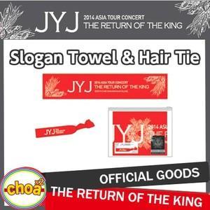 JYJ スローガンタオル&ヘアータイset 2014 Concert In Seoul 'THE RETURN OF THE KING' ソウルコンサートグッズ 公式スローガンタオル|shopchoax2