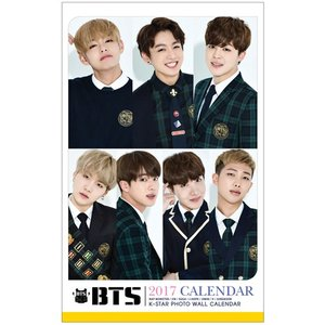 BTS 防弾少年団 2017年壁掛けカレンダー K-STAR PHOTO WALL CALENDAR 2017|shopchoax2