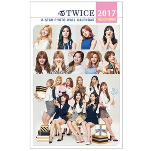 TWICE トゥワイス  2017年壁掛けカレンダー K-STAR PHOTO WALL CALENDAR 2017|shopchoax2