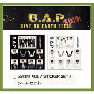 B.A.P(ビ−エイピ-)- 2013 LIVE ON EARTH SEOUL WANTED ステッカーセット 【 公式グッズ 】|shopchoax2