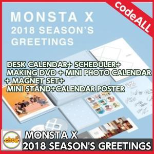 MONSTA X - 2018 SEASON'S GREETINGS 特典:カレンダー型ポスターランダム1枚|shopchoax2