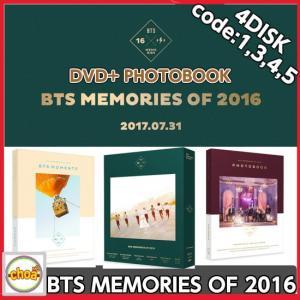 BTS MEMORIES OF 2016 DVD 4DISK code1,3,4,5 +PHOTOBOOK+PHOTOCARD 防弾少年団 bantan|shopchoax2