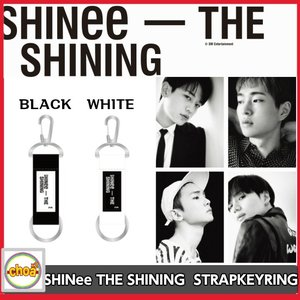 [SHINee] THE SHINING ストラップキーリング  WHITE, BLACK 2018 SHINee SPECIAL PARTY OFFICIAL GOODS|shopchoax2