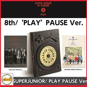 SUPERJUNIOR(スーパージュニア)-正規8集 アルバム/ ['PLAY' PAUSE Ver.] 2CD-R BLACK SUIT SPECIALver.+ONE MORE CHANCE SPECIALver.|shopchoax2