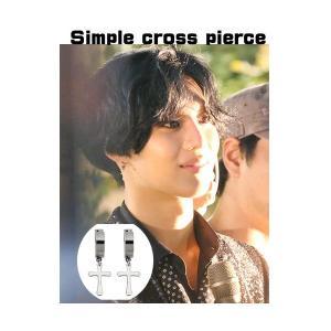 SHINee テミン スタイル シンプルクロスピアス|shopchoax2