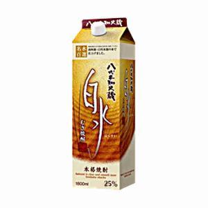 送料無料 白水 麦 25度 メルシャン 1.8L(1800ml) パック 6本×2ケース