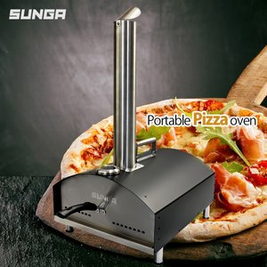 SUNGA ピザ窯 ポータブル ピザオーブン バーベキューグリル ステーキグリル マルチクッキングオーブン ピザ釜 キャンプ 家庭用|shopduo
