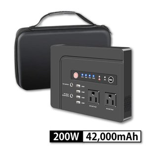 ポータブル電源 42000mAh 155Wh 小型・軽量 100V 純正弦波 200W ポータブルバッテリー / AC・DC・USB出力|shopduo