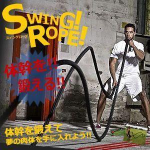 体幹ロープ 振るだけ 簡単 トレーニング ジム ギア 筋トレ プロ アスリート 筋力 ET-SW-ROPE|shopeast