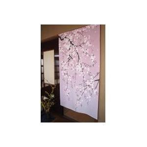 コスモ のれん しだれ桜|shopeast
