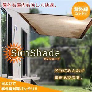 日よけ サンシェード 屋外 屋内も 涼しく快適 お庭 空間 紫外線対策 プール 砂場 ウッドデッキ パラソル ET-SUNSHE|shopeast