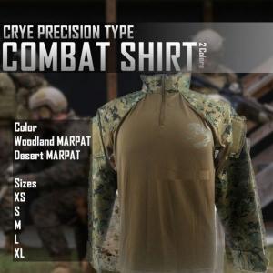コンバットシャツ サバゲー ウッドランド デザート MARPAT 迷彩  米軍 海兵隊 ET-CS|shopeast