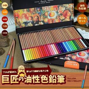 巨匠の 油性色鉛筆 100色 72色 48色 36色 24色 えんぴつ ペン 絵画 デッサン 風景画 模写 アート 人物 上達 趣味 キャンパス ET-KYOSHOPEN
