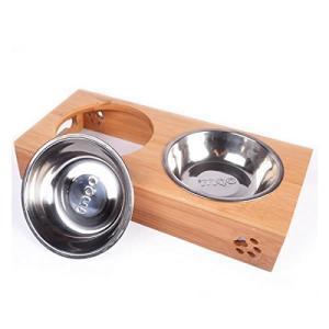 ヘルニア 猫 食器 スタンド 陶器 犬猫用フード 水 ボウル ET-PT-CS0310|shopeast
