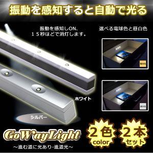 振動 感知 センサーライト LED 防犯 防災 ET-GOWAYLIGHT|shopeast