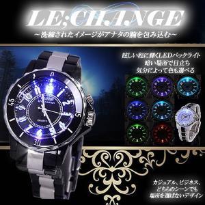 メンズ レディース 腕時計 ビジネス スーツ 大人 ウォッチ カジュアル LED ET-LECHANGE|shopeast
