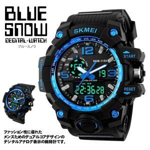 ブルースノウ 腕時計 高級感 デジタル ウォッチ クロック デジタル 防水 スポーツ メンズ BLUESNOW