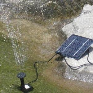 ソーラー 噴水 ガーデン パネルで省エネ仕様 池でも使える 池ポンプ FS-H4009|shopeast