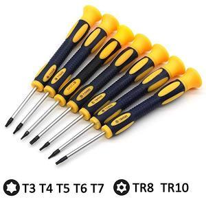 トルクスドライバーセットT3 T4 T5 T6 T7 T8 T10 精密 ヘックスローブ レンチセッ...