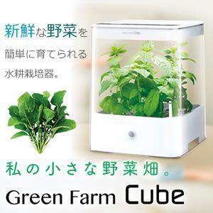 新鮮な野菜を簡単に育てられる 水耕栽培器 Green Farm Cube 野菜の育成が 楽しめ 食べれる 新鮮 UH-CB01G|shopeast