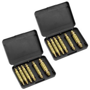 ドリルビットセット 6本組 × 2個セット ネジ外しビット ネジ取り 潰れたネジ取り なめたボルト 簡単 取り外す DIY 工具 家具 2-NEJI6 shopeast