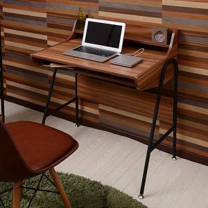 デスク 木製 アイアン パイプ 収納 北欧 机 パソコン ライティング メラミン 書斎 ユニット おしゃれ|shopfamous