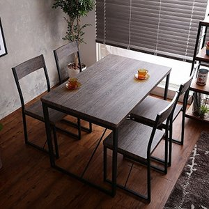 ダイニングセット 5点セット 幅110cm テーブル チェア4脚 シンプル ブルックリン おしゃれ|shopfamous