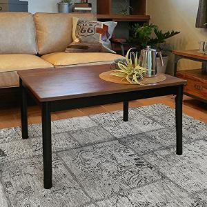 こたつテーブル 長方形 ダークブラウン ヴィンテージスタイル 古木調 おしゃれ|shopfamous