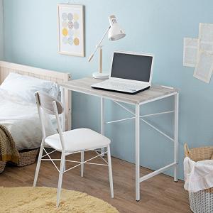 机 椅子 2点セット ホワイト コンセント付き コンパクト シンプル 木目調 デスク チェア おしゃれ|shopfamous