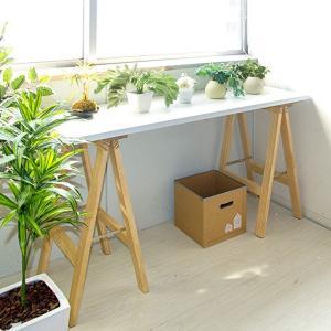 ワークデスク カウンターテーブル ドレッサー 机 天然木 シンプル 調理台 作業台 スリム フラワースタンド おしゃれ|shopfamous