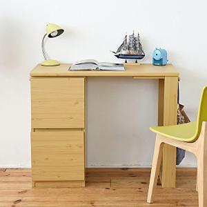 デスク おしゃれ コンパクト チェスト 机 収納 キャビネット付き 大人の勉強机 書斎机 リビングデスク 木製 省スペース 幅90|shopfamous