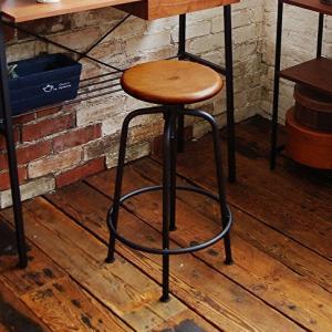 スツール おしゃれ 高さ調節 椅子 カウンターチェア バーチェア カフェスタイル スタイリッシュ シンプル インダストリアル ビンテージスタイル  丸 昇降式 花台 shopfamous