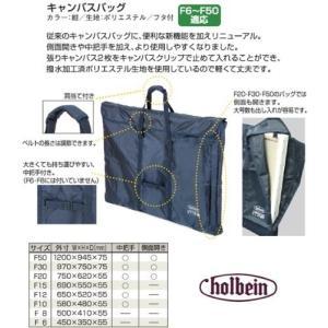 ホルベイン キャンバスバッグ F15 紺・フタ付 140565