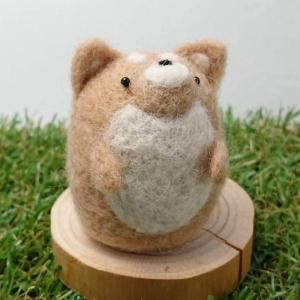 【asamame】 つぶらな瞳の柴犬さん ライトブラウン a04-004 【メール便対応】|shopfreddo