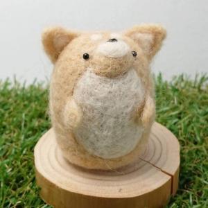 【asamame】 つぶらな瞳の柴犬さん ナチュラルベージュ a04-005 【メール便対応】|shopfreddo