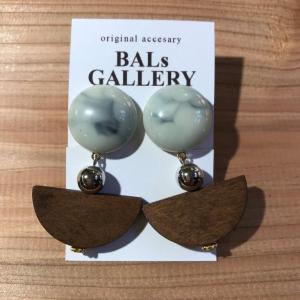 【BALs GALLERY】 マーブル ウッド イヤリング 【メール便対応】|shopfreddo