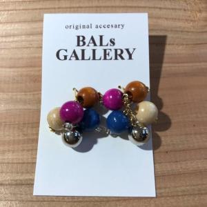 【BALs GALLERY】 カラフル ピアス '- グレープ 【メール便対応】|shopfreddo