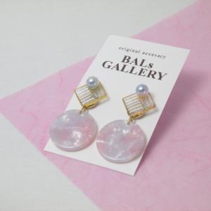 【BALs GALLERY】 ピンクシェルピアス 【メール便対応】|shopfreddo