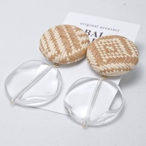 【BALs GALLERY】 柄カボションとクリアのイヤリング 【メール便対応】|shopfreddo