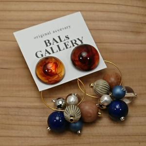 【BALs GALLERY】 べっ甲ウィンターグレープピアス b02-027 【メール便対応】|shopfreddo
