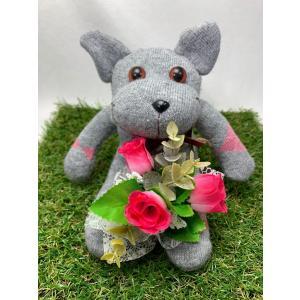 【Freddo】ソック キャット ネコ 猫 靴下 ぬいぐるみ 母の日 出産祝 お誕生日プレゼント ギフト フラワー 花束 バラ ラッピング無料 手作り 6|shopfreddo