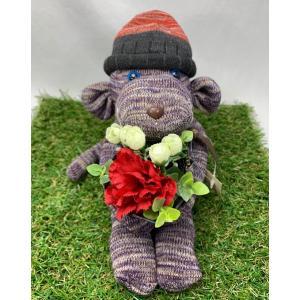 【Freddo】ソック モンキー サル 靴下 ぬいぐるみ 母の日 出産祝 お誕生日プレゼント ギフト フラワー 花束 カーネーション ラッピング無料 手作り33 shopfreddo