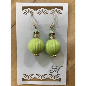【m.m】 ピアス '- 黄緑 【メール便対応】|shopfreddo