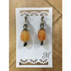 【m.m】 ピアス '- オレンジ 【メール便対応】|shopfreddo