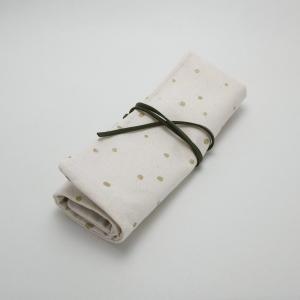 【Nana.Co】 かぎ針ケース ドット×黒花 【メール便対応】|shopfreddo