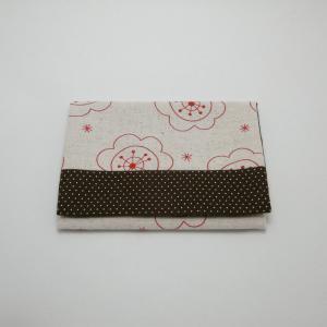 【Nana.Co】 ティッシュケース 赤×ブラウン 【メール便対応】|shopfreddo
